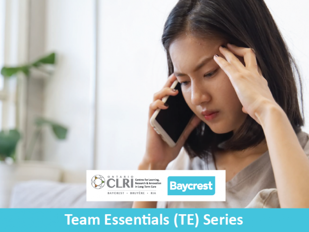 TE. Course 2a. For Families: Phoning Your Long-Term Care Team Using The Huddle Tool course image