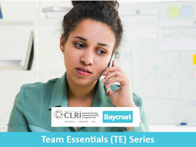 TE. Course 2b. For Team Members: Answering Family Phone Calls Using The Huddle Tool course image