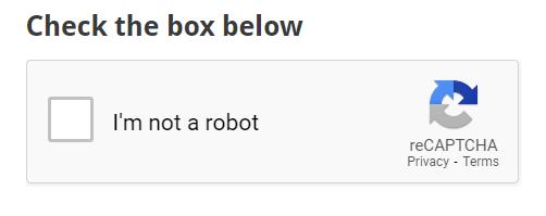 recaptcha box